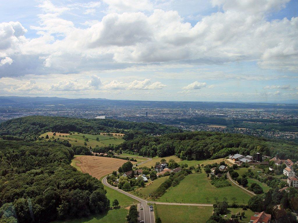 Blick auf Basel von St. Chrischona