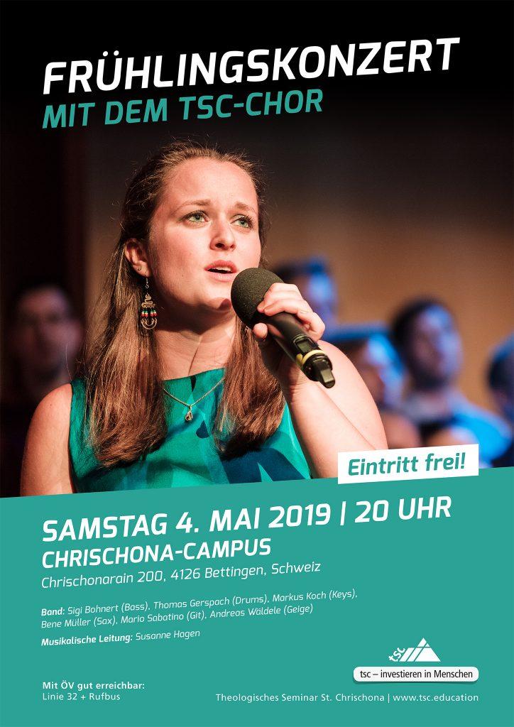 tsc-Chor: Frühlingskonzert am 4. Mai 2019 (Plakat)