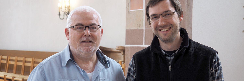 tsc-Dozenten für Neues Testament: Pfr. Dr. Eckhard Hagedorn und Daniel Gleich