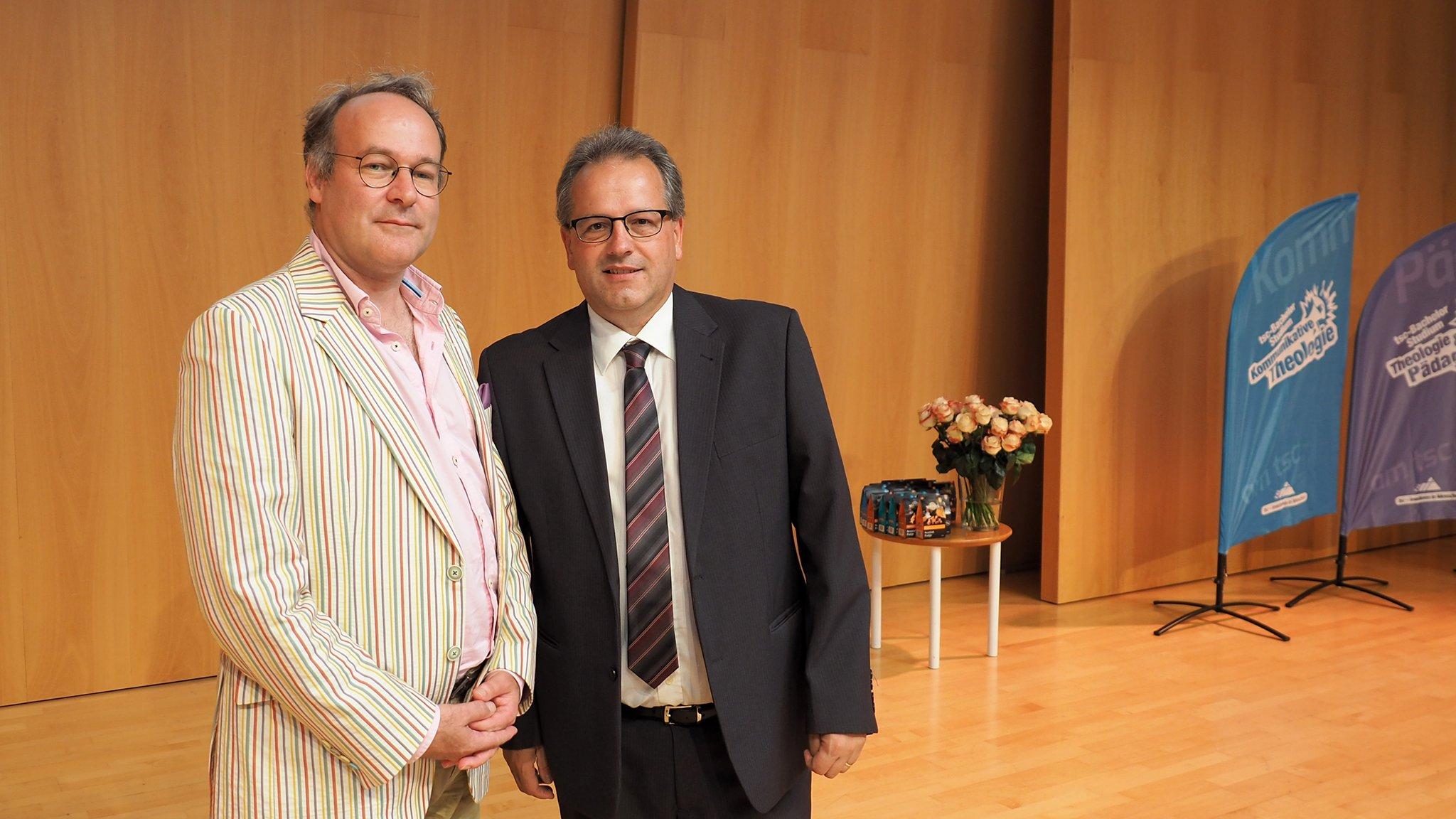 tsc-Graduierungsfeier 2019: Dr. Johan Siebers und Dr. Benedikt Walker
