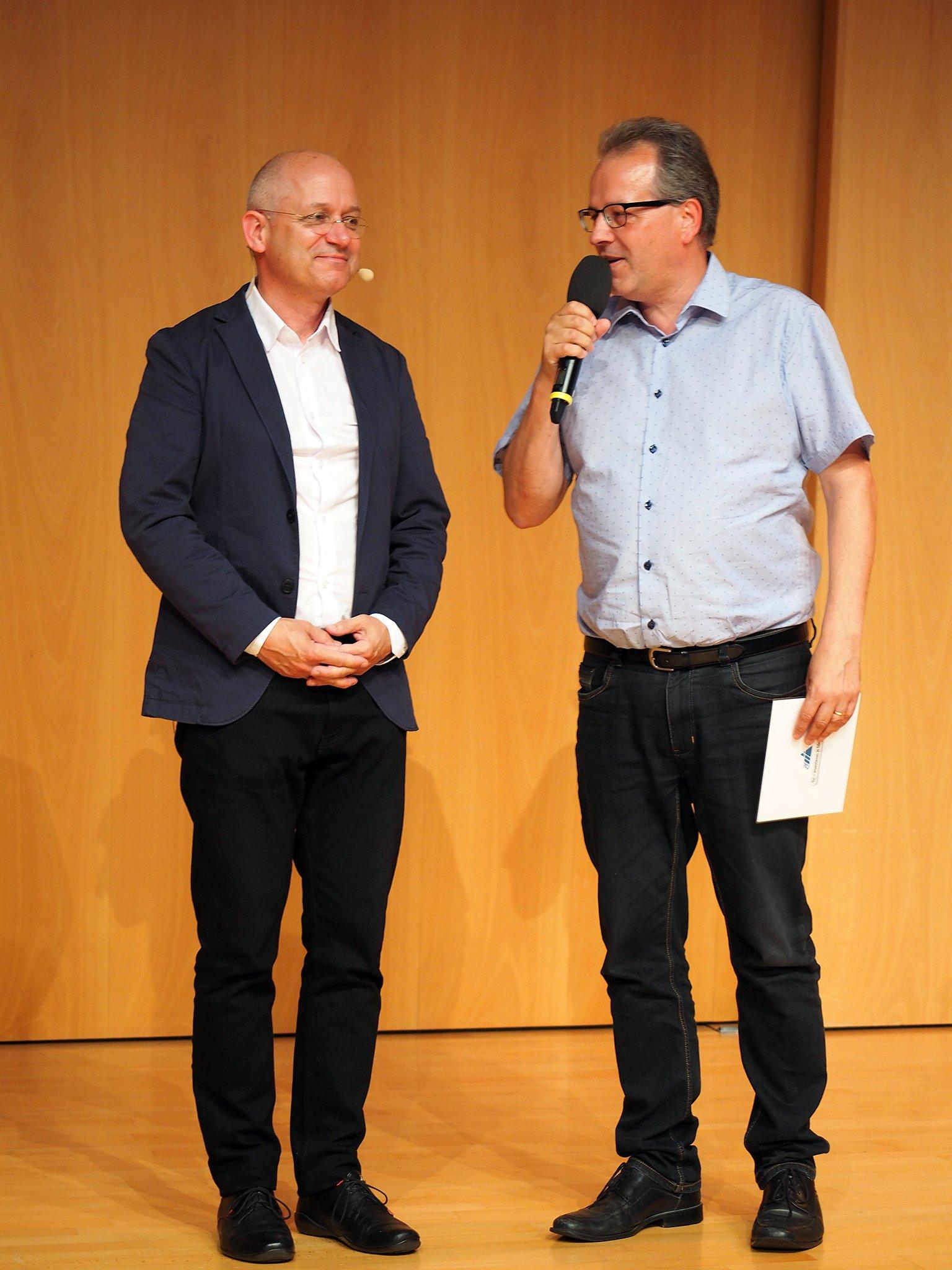 Pfarrer Heiner Schubert und Dr. Benedikt Walker (Rektor tsc)