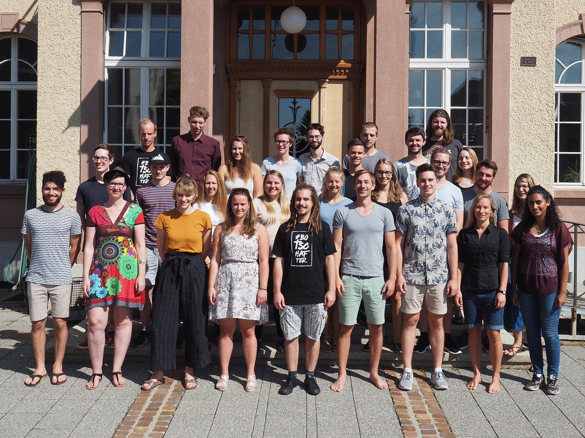 tsc-Start 19/20: Studierende im Bachelorstudiengang Theologie & Musik