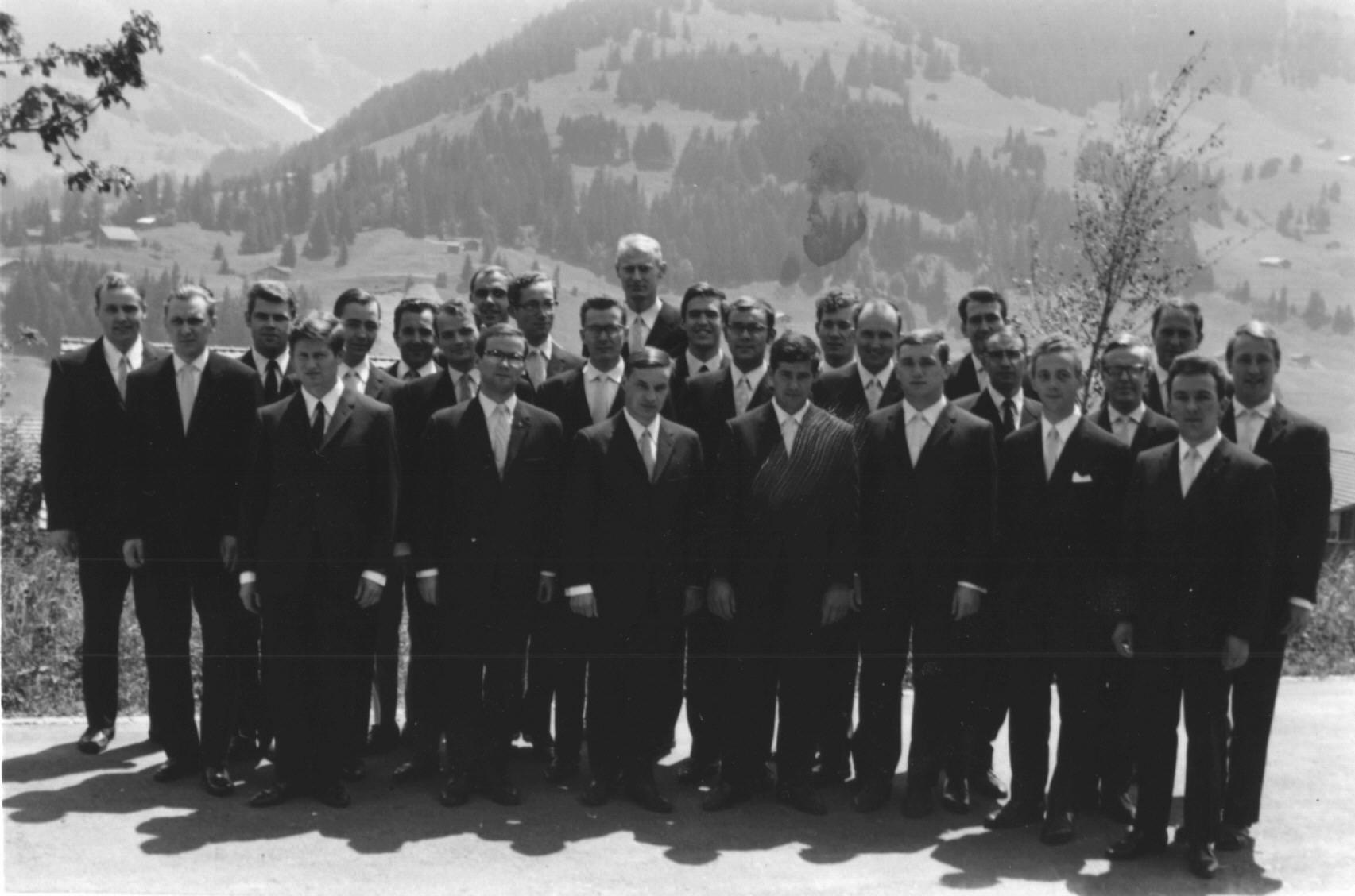 tsc-Abschlussklasse 1969 in Adelboden