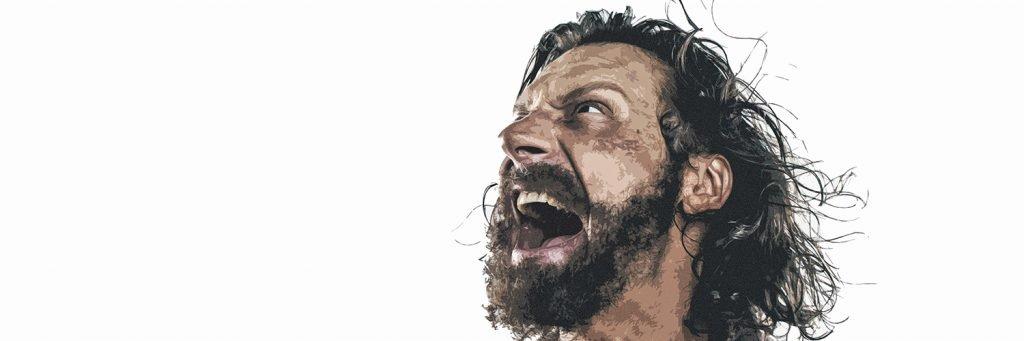 Communicatio-Magazin 2/2019: Der gewalttätige Gott der Bibel (Kämpfer, 1500x500px)