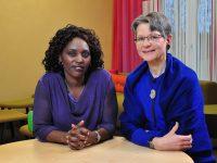 Joséphine Niyikiza und Johanna Krapf, Talkgäste des tsc-Seniorentags 2020