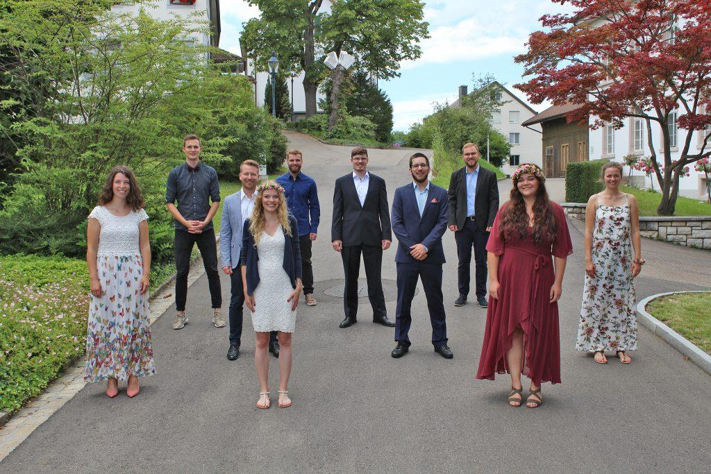 tsc-Aussendung 2020: Absolventinnen und Absolventen des Bachelor-Studiengangs Kommunikative Theologie