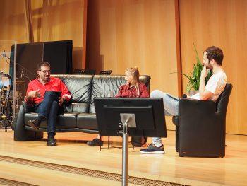 René Winkler im Gespräch mit Studierenden