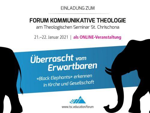 Einladung zum Forum Kommunikative Theologie 2021: Überrascht vom Erwartbaren (1024x768px)