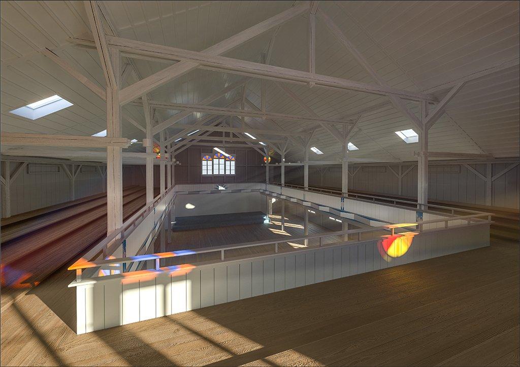 Spendenprojekt Eben-Ezer-Halle: Visualisierung der Eventhalle