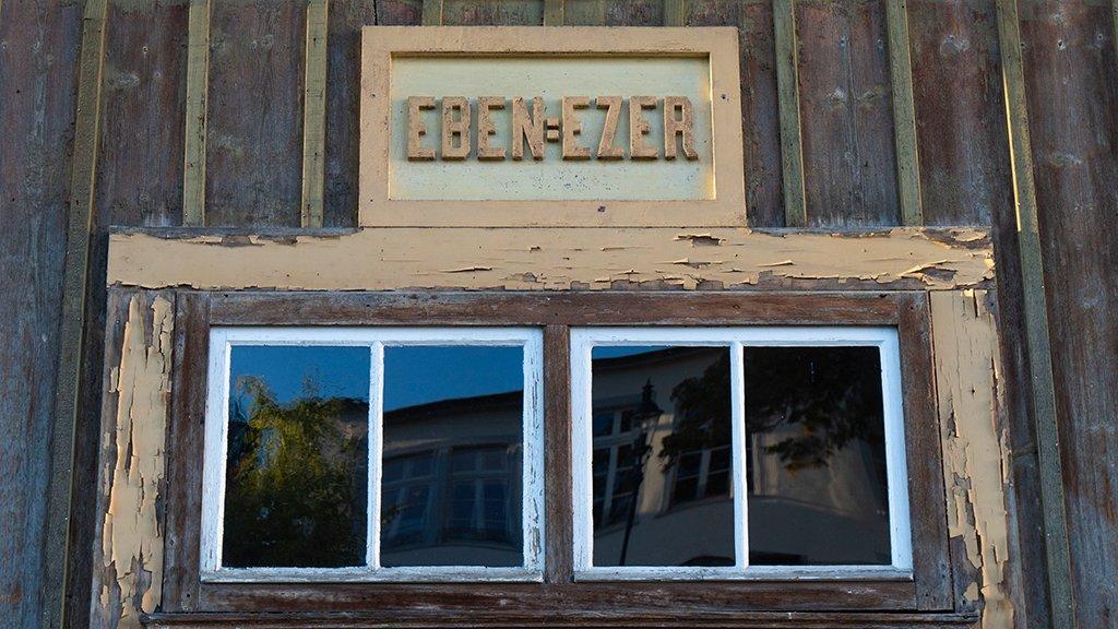 Spendenprojekt Eben-Ezer-Halle: Eingangstür