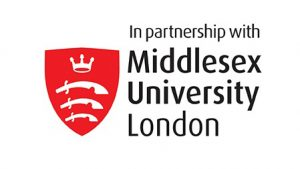 Logo «In partnership with Middlesex University»