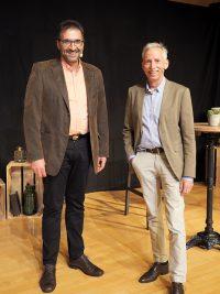 René Winkler (Moderator) und Peter Schulthess (Referent) freuten sich über den Teilnehmerrekord beim tsc-Seniorentag 2021.